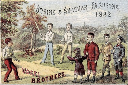 1882 Vogel Brothers Trade Card