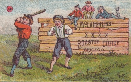 1886 McLaughlin Coffee Calendar Trade Card