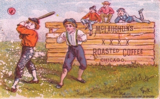 1886 McLaughlin XXXX Coffee Trade Card