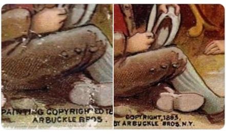 1893 Arbuckles Sports Pastimes Copyright Variation