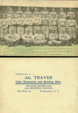 1912 Burke Atwell Red Sox Al Travers Restaurant