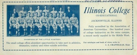 1920s Illinois College Baseball Team Blotter