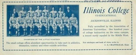 1920s Illinois College Baseball Team Blotter