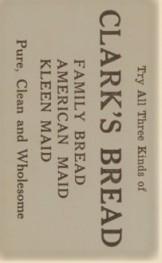 1921 Clark's Bread Back