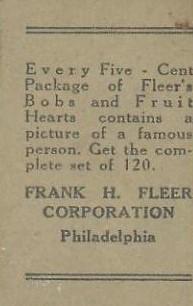 1923 Fleer Back