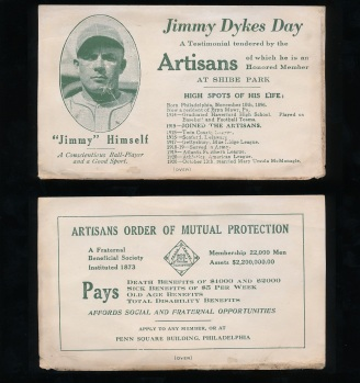 1926 Jimmy Dykes Day Artisans Card.jpg