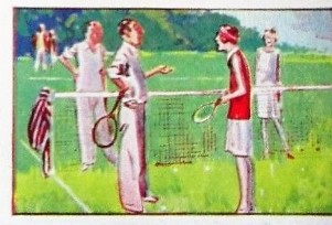 1929 United Tobacco Humour in Sports Tennis