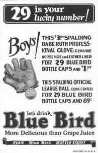 1933 Blue Bird Soda Ruth Back