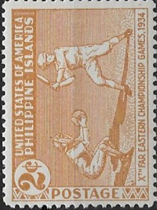 1934 Far East Games Baseball Stamp