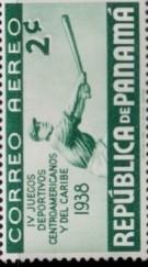 1938 Panama Stamp Baseball