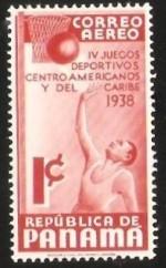 1938 Panama Stamp Basketball