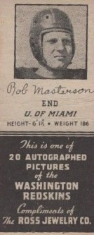 1939 Ross Jewelry Redskins Matcbooks