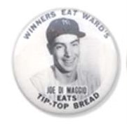 1940 Tip Top Bread Pin DiMaggio