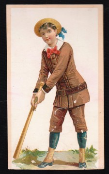212 Buffords Boy with Bat and Brown Uniform Trade Card 626