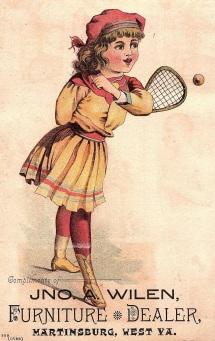 B359 Tennis Girl Trade Card