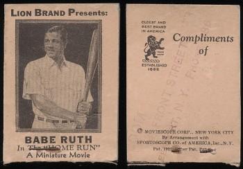 Babe Ruth 1930s Lion Brand Movie