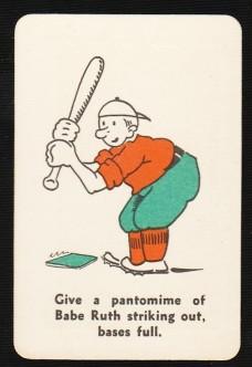 Babe Ruth 1935 Whitman Party Stunts