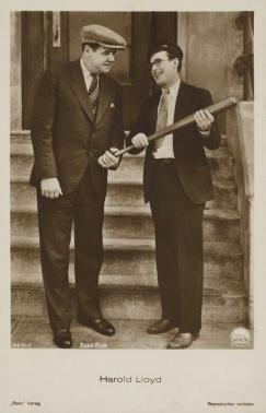 Babe Ruth Harold Lloyd 1931 Ross Verlag Postcard