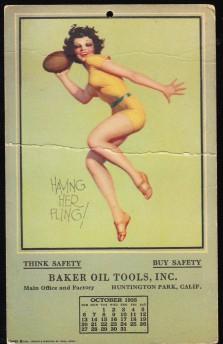 Baker Oil Tools Postcard - Football (1935)