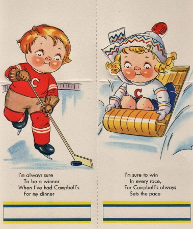 Campbell's Soup Bridge Tallies - Hockey Player (1930s)