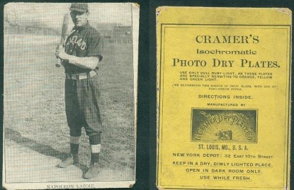 Cramer's Isochromatic Photo Dry Plates Nap Lajoie