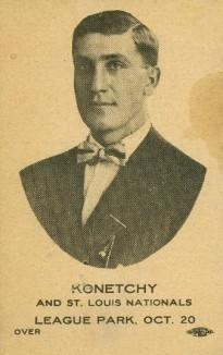Ed Konetchy 1912 St. Louis Card
