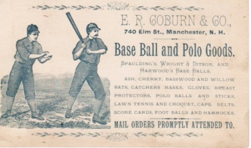 ER Coburn Baseball and Polo Goods