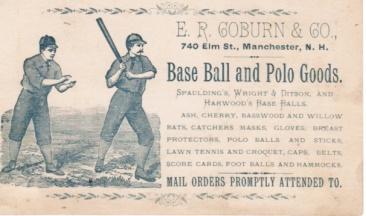 ER Coburn Baseball and Polo Goods