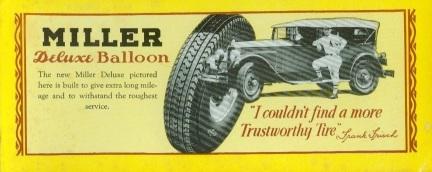 Frankie Frisch Miller Tires Blotter