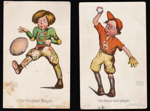 Gassaway Rotograph Baseball and Football Postcards (1906) - Copy