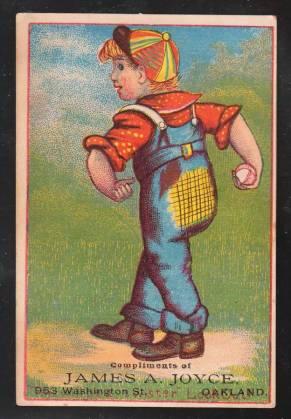 H804-12 Young Boy Trade Card Baseball