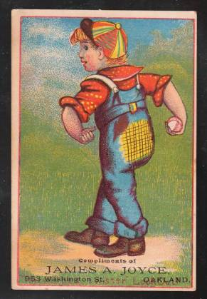 H804-12 Young Boy Trade Card Baseball