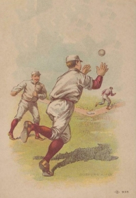 H804-18 Red Socks Trade Card Gobbling a Fly
