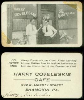 Harry Coveleskie Cafe Business Card
