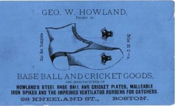 Howland Baseball and Cricket Goods Trade Card