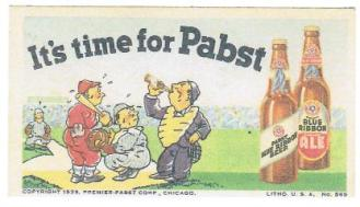 It's Time For Pabst Trade Card