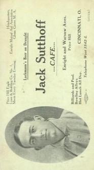 Jack Sutthoff Cafe Business Card