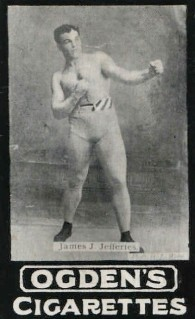 James Jeffries 1901 Ogden Tabs Boxing Rookie Card