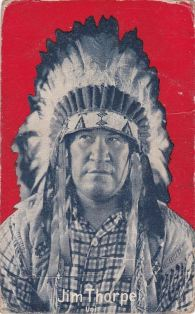 Jim Thorpe Indian Movie Exhibit Postcard 2