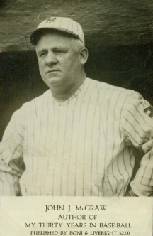 John McGraw 1923 My Thirty Years in Baseball Promotional Card