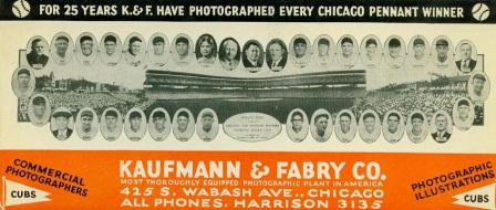 Kaufmann and Fabry Cubs Blotter
