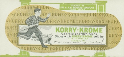 Korry-Krome Flexible Shoes Blotter