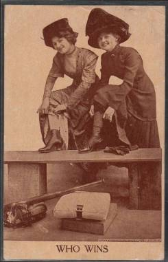 prewarcards-roth-and-langley-baseball-romance-postcard-who-wins