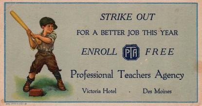 Professional Teachers Agency Blotter