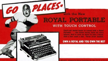 Royal Typewriter Football Blotter