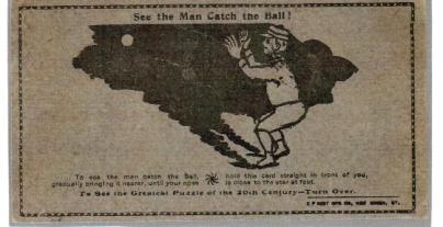 See the Man Catch the Ball Trade Card