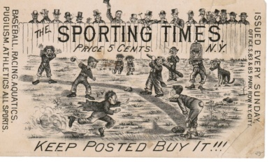 Sporting Times Baseball Scene Trade Card