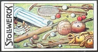 Stollwerck Sports Equipment Card