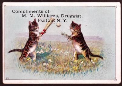 Trade Card No. 231 Cats Playing Baseball 23