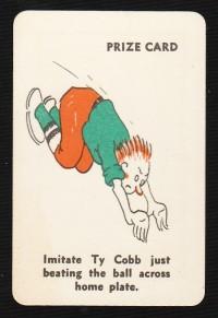 Ty Cobb 1935 Whitman Party Stunts